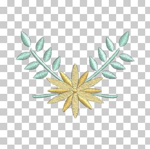Leaf Embroidery Flower Industry Branch PNG