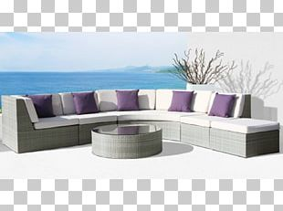 Table Chaise Longue Couch Garden Furniture PNG