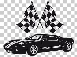 Car Decal Auto Racing Flag Sticker PNG