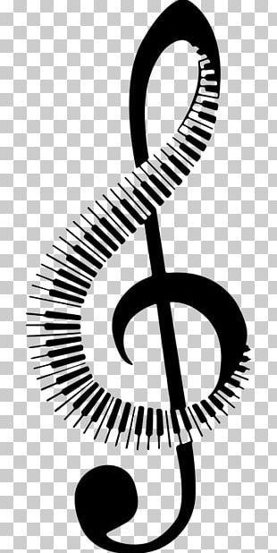 Musical Note Clef Logo PNG