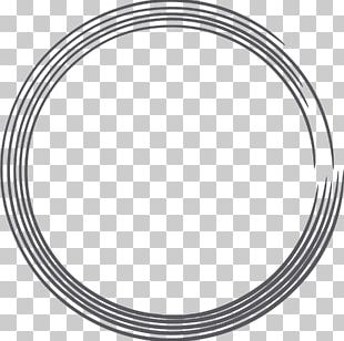 Black Circle Black And White PNG