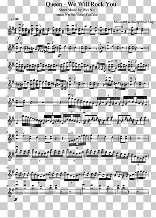 Sheet Music Violin Song We Will Rock You PNG