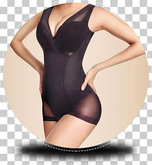 Slip Training Corset Waist Cincher One-piece Swimsuit Foundation Garment PNG