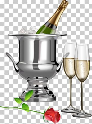 Wedding Toast Champagne Glass PNG