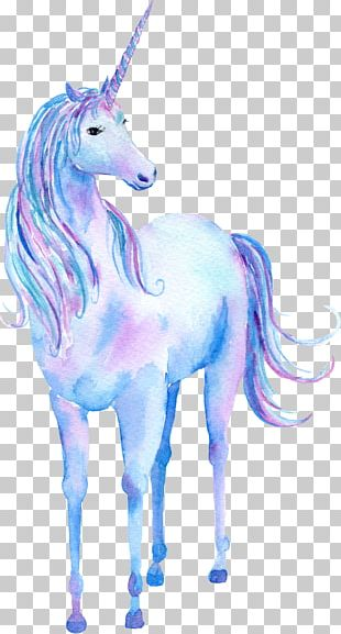 Unicorn Watercolor Painting Poster PNG
