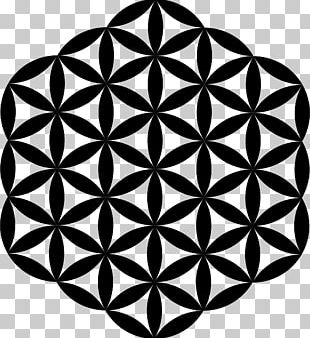 Overlapping Circles Grid Sacred Geometry PNG