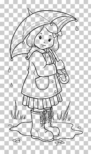 Coloring Book Rain Colouring Pages Wet Season PNG