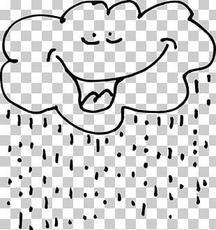 Rain Black And White PNG