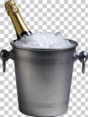 Champagne Bottle Wine Glass Bucket PNG