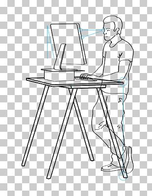 Standing Desk Sit-stand Desk Sitting PNG