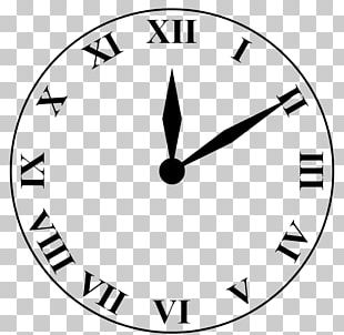Clock Face Roman Numerals Numerical Digit Number PNG