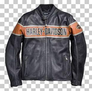 Leather Jacket Harley-Davidson Gilets PNG