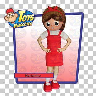 Narizinho Doll Sítio Do Picapau Amarelo Mascot Toy PNG