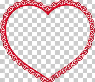 Valentine's Day Heart Lace PNG