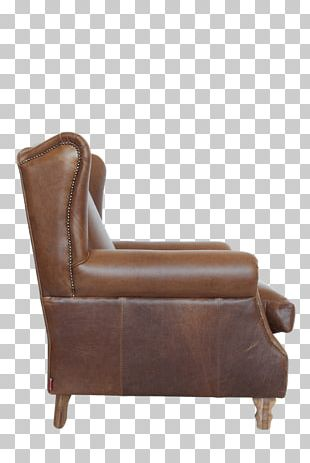 Club Chair Couch Recliner Leather PNG