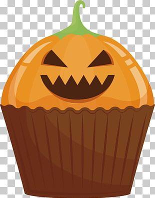 Jack-o-lantern Cupcake Calabaza Halloween Cake Cucurbita Maxima PNG
