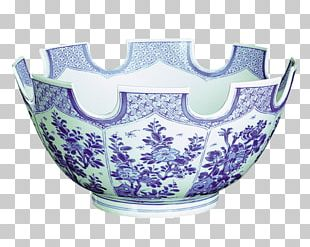 Blue And White Pottery Tableware Bowl Mottahedeh & Company PNG