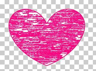 Heart Magenta Color PNG