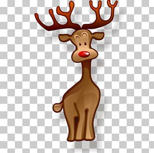 Rudolph Santa Claus Reindeer Christmas Icon PNG