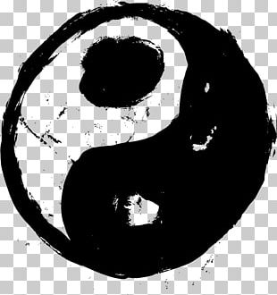 Yin And Yang Black And White Symbol PNG