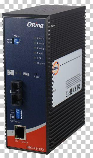 Fiber Media Converter Optical Fiber Ethernet 100BASE-TX PNG