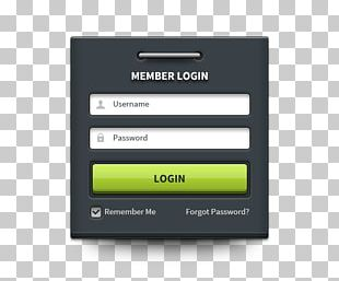Login User Interface Android Icon PNG