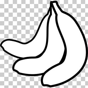 Black And White Monochrome Painting Fruit Banana PNG