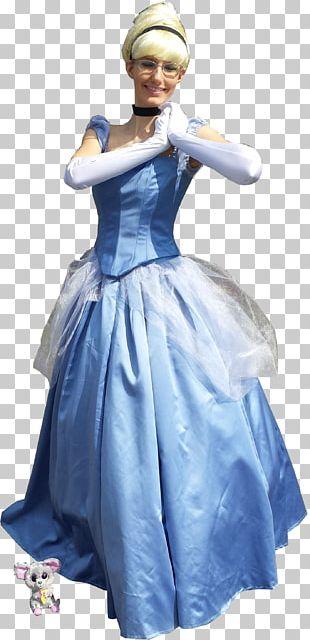 Cinderella Costume Disney Princess Gown Dress PNG