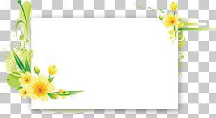 Flower Frames Floral Design Birthday Text PNG