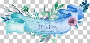 Watercolor Painting Floral Design Ribbon Paper PNG