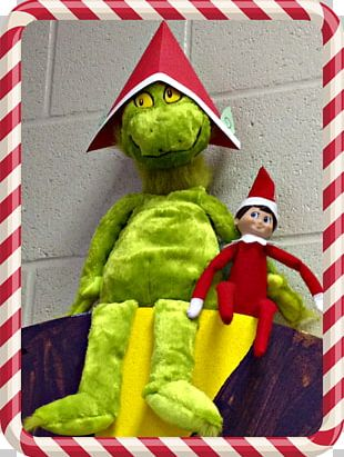 The Elf On The Shelf Grinch Library Makerspace PNG