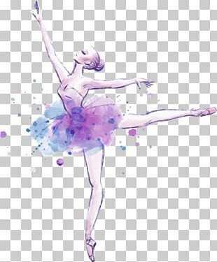 Ballet Dancer Drawing Watercolor Painting PNG