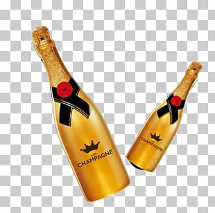 Champagne Wine Bottle Drink PNG