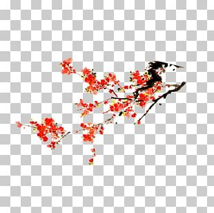 Plum Blossom Euclidean Chinese New Year PNG