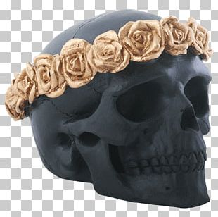 Skull DeadRockers Flower Wreath Crown PNG