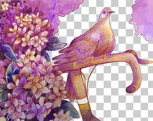 Bird Flower Euclidean PNG