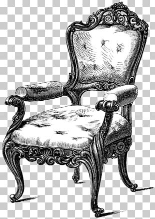 Table Chair Antique Furniture Drawing Couch PNG
