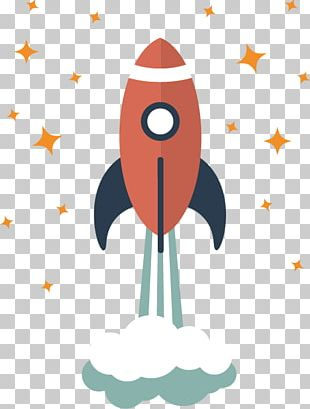 Rocket Flat Design Icon PNG
