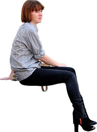 Sitting Man PNG