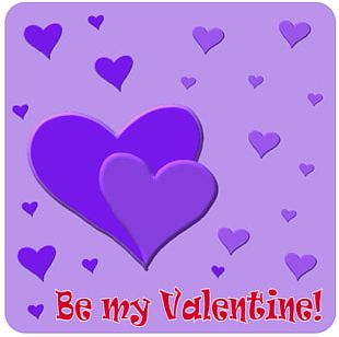 Valentines Day Heart Purple PNG