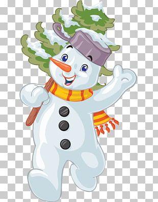 Christmas Cartoon Snowman Illustration PNG