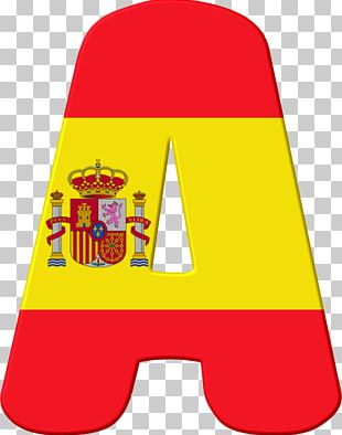 Flag Of Spain Alphabet Letter PNG
