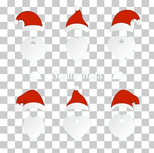 Santa Claus Christmas Beard Hat PNG