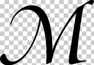 Cursive Letter Alphabet M Font PNG
