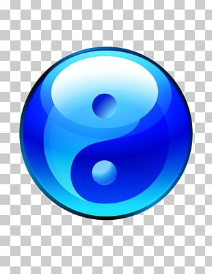 Yin And Yang Symbol Blue Computer Icons PNG