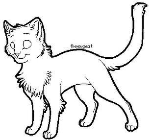 Cat Line Art Kitten PNG