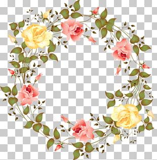 Flower Watercolor Painting Wreath PNG