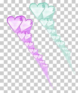 Pink M Petal Heart PNG