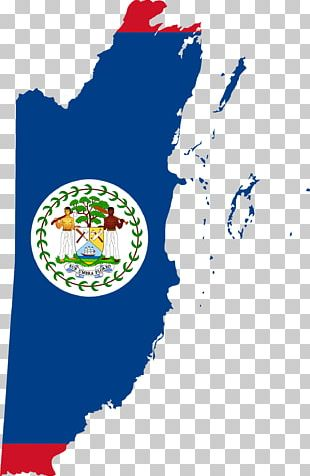 Flag Of Belize Map PNG