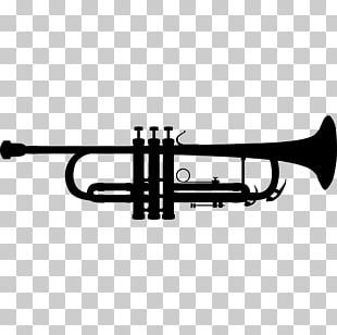 Trumpet Silhouette Musical Instruments PNG